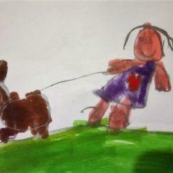 Sabina y Canela: historia de una niña y su perra