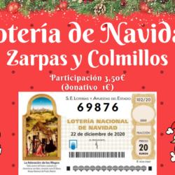 ¡Ya está aquí la lotería de navidad 2020 a favor de Zarpas y Colmillos!