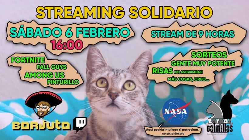 Nuevo «streaming» solidario de un gran amigo de Zarpas
