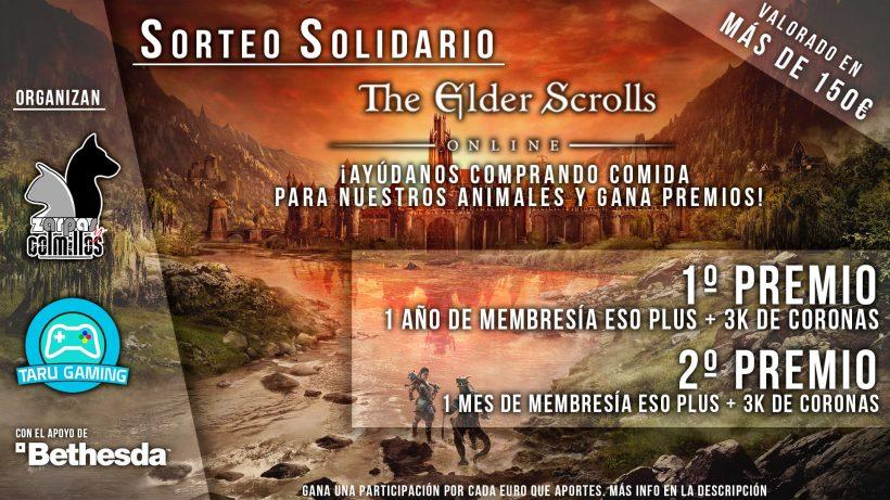 Sorteo Solidario The Elder Scrolls Online: Dona pienso y llévate fantásticos premios para el juego de Bethesda